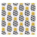 Tissu Cretonne Mini Ananas Noir