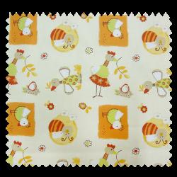 Tissu Coton Enfant Cocotte Orange