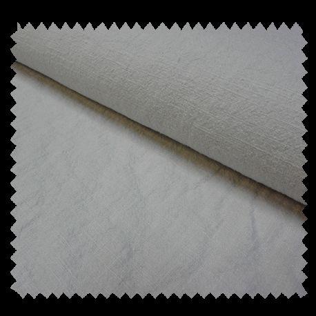 Tissu Lin Lavé Uni Gris Perle