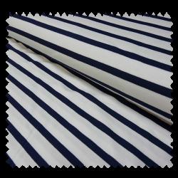 Tissu Katia Navy Blanc