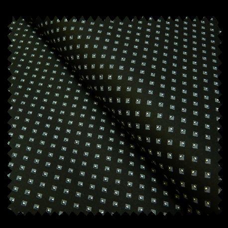tissu coton double face fond noir tissus des ursules. Black Bedroom Furniture Sets. Home Design Ideas