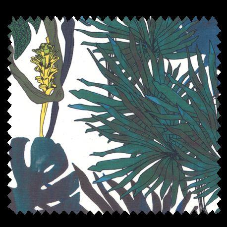 Tissu Jungle Bleu
