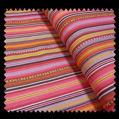 tissu jacquard mexicain rose tissus des ursules. Black Bedroom Furniture Sets. Home Design Ideas