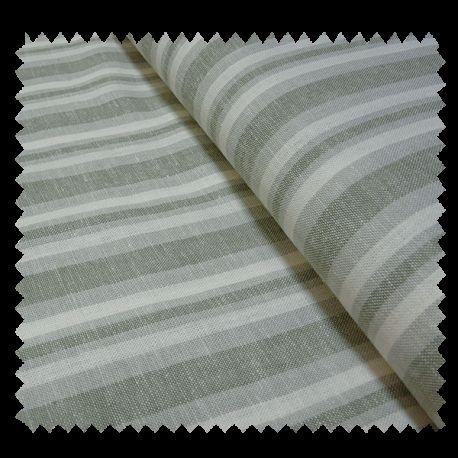 tissu lin rayures kaki tissus des ursules. Black Bedroom Furniture Sets. Home Design Ideas