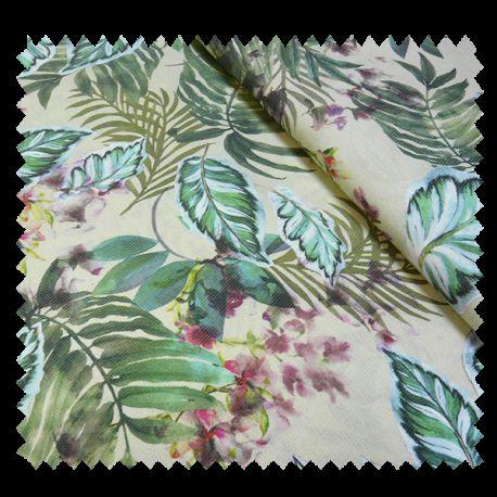 tissu imprim kansas tropical tissus des ursules. Black Bedroom Furniture Sets. Home Design Ideas
