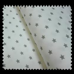 Tissu Bord Cote Etoile Blanc Gris