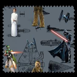 Tissu Disney Star Wars Fond Gris