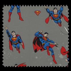 Tissu Superman Fond Gris