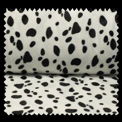 Tissu Fausse Fourrure Dalmatien