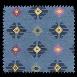 Tissu Jacquard Vichy Bleu