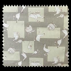 Tissu Enduit Les Oies Taupe
