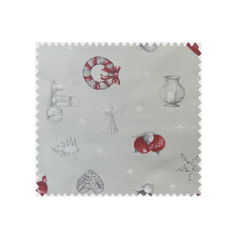 Tissu bachette etoiles de no l gris tissus des ursules - Tissu de noel ...