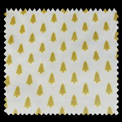 Tissu Cretonne Mini Sapins Or