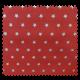 Tissu Cretonne Stars Rouge Argent