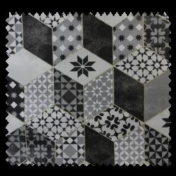 Tissu Bachette Rubiks Noir