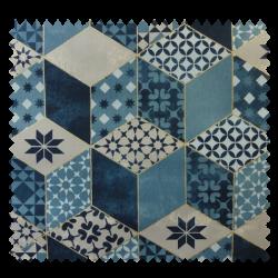 Tissu Bachette Rubiks Bleu