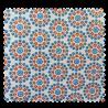 Tissu Cretonne Lisbonne Allover Orange Turquoise