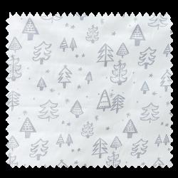 Tissu Imprimé Christmas Sapin de Noël Argent
