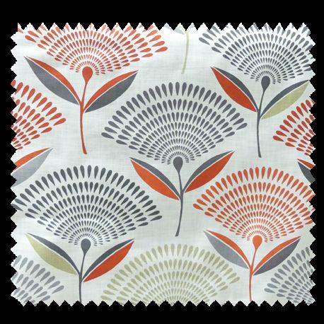 Tissu Imprimé Dandy Ambre Floral