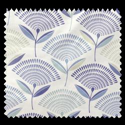 Tissu Imprimé Dandy Colonial Floral Bleu