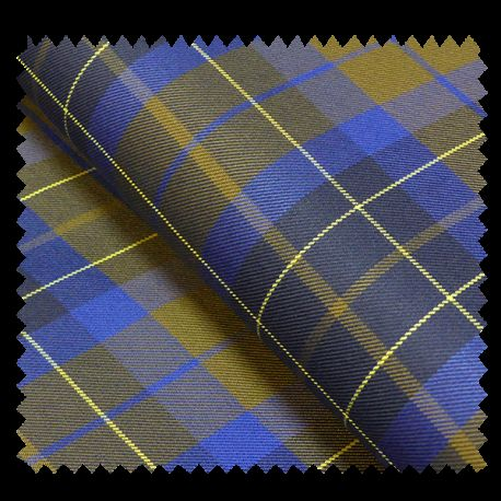 tissu gabardine ecossaise kaki et bleu tissus des ursules. Black Bedroom Furniture Sets. Home Design Ideas