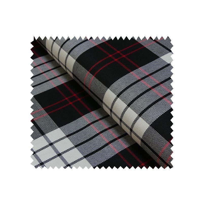 tissu gabardine ecossaise noir et rouge tissus des ursules. Black Bedroom Furniture Sets. Home Design Ideas