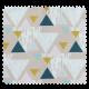 Tissu Scandinavia Triangle Moutarde