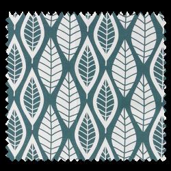 Tissu Scandinavia Feuille Bleu Vert