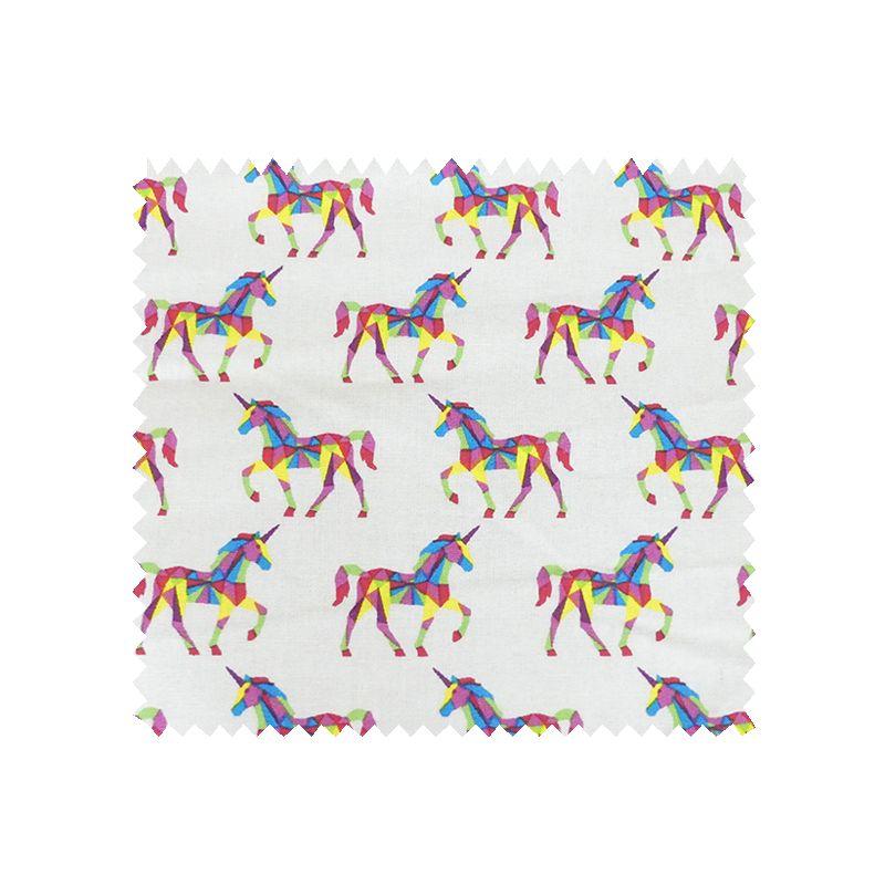 tissu cretonne licornes multicolore tissus des ursules. Black Bedroom Furniture Sets. Home Design Ideas