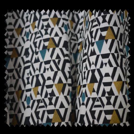 tissu jacquard kim jaune bleu tissus des ursules. Black Bedroom Furniture Sets. Home Design Ideas