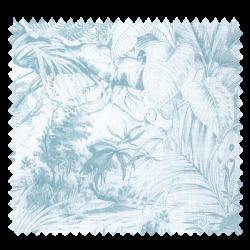 Tissu Elizabeth Végétation Bleu Fond Beige