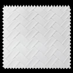 Tissu Simili Panier Blanc