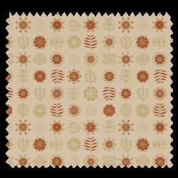 Tissu Coton de Noël Imprimé Motif Fond Blanc