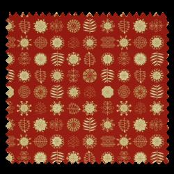 Tissu Coton de Noël Imprimé Motif Fond Rouge