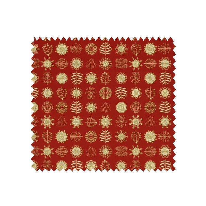 tissu coton de no l imprim motif fond rouge tissus des ursules. Black Bedroom Furniture Sets. Home Design Ideas