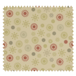 Tissu Coton de Noël Imprimé Flocon Fond Blanc