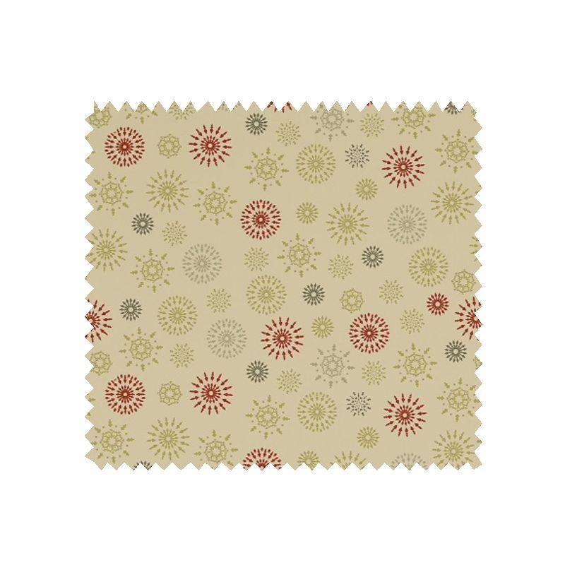 Tissu coton de no l imprim flocons multico tissus des ursules - Tissu de noel ...
