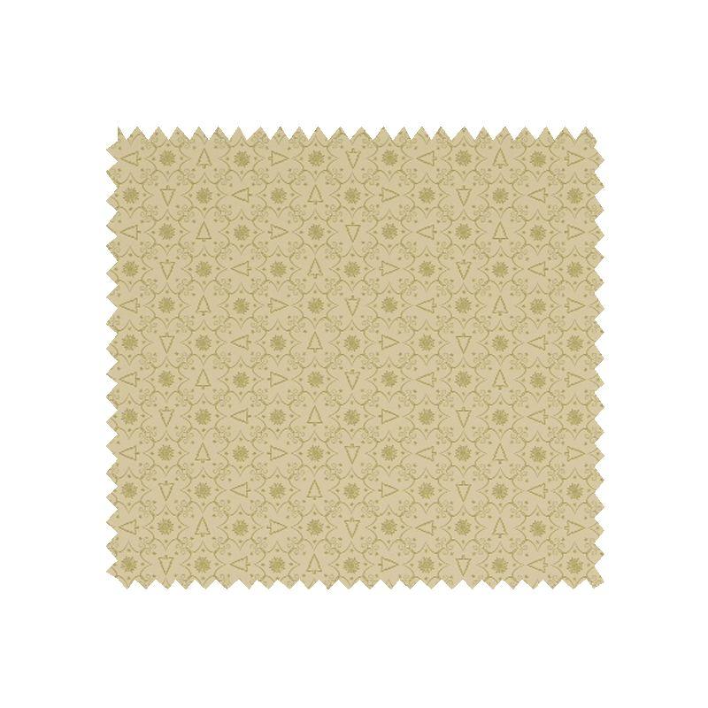 Tissu coton de no l imprim sapin dor tissus des ursules - Tissu de noel ...