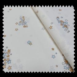 Tissu Kalinichta Blanc Bleu