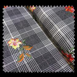 Tissu Como Brodé Noir
