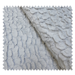 Tissu Fausse Fourrure Grizzly Argent