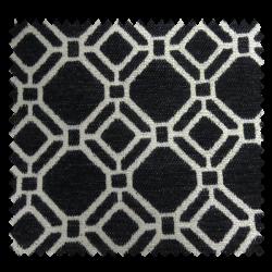 Tissu Esmeralda Jacquard Chenillé Noir