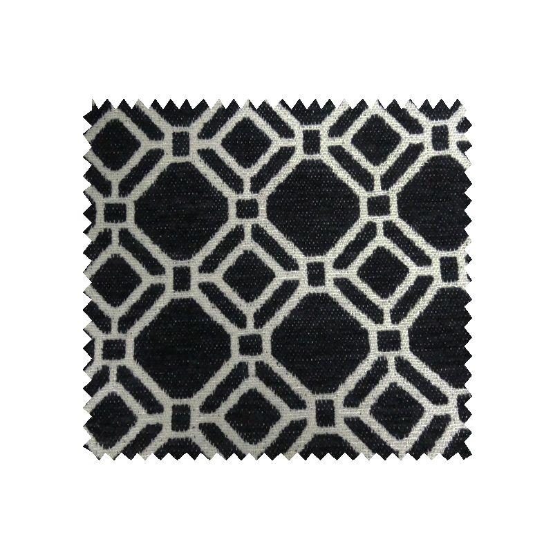 tissu esmeralda jacquard chenill noir tissus des ursules. Black Bedroom Furniture Sets. Home Design Ideas
