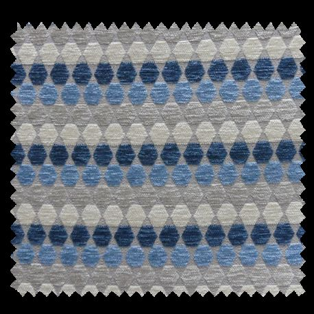 Tissu Azabache Jacquard Chenillé Bleu