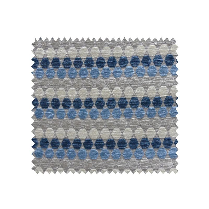 tissu azabache jacquard chenill bleu tissus des ursules. Black Bedroom Furniture Sets. Home Design Ideas
