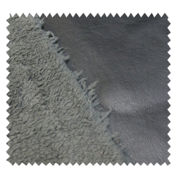 Tissu Simili Mouton Noir