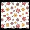 Tissu Cretonne Etoiles Givrées Rouge Or