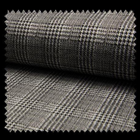 tissu jacquard prince de galles noir tissus des ursules. Black Bedroom Furniture Sets. Home Design Ideas