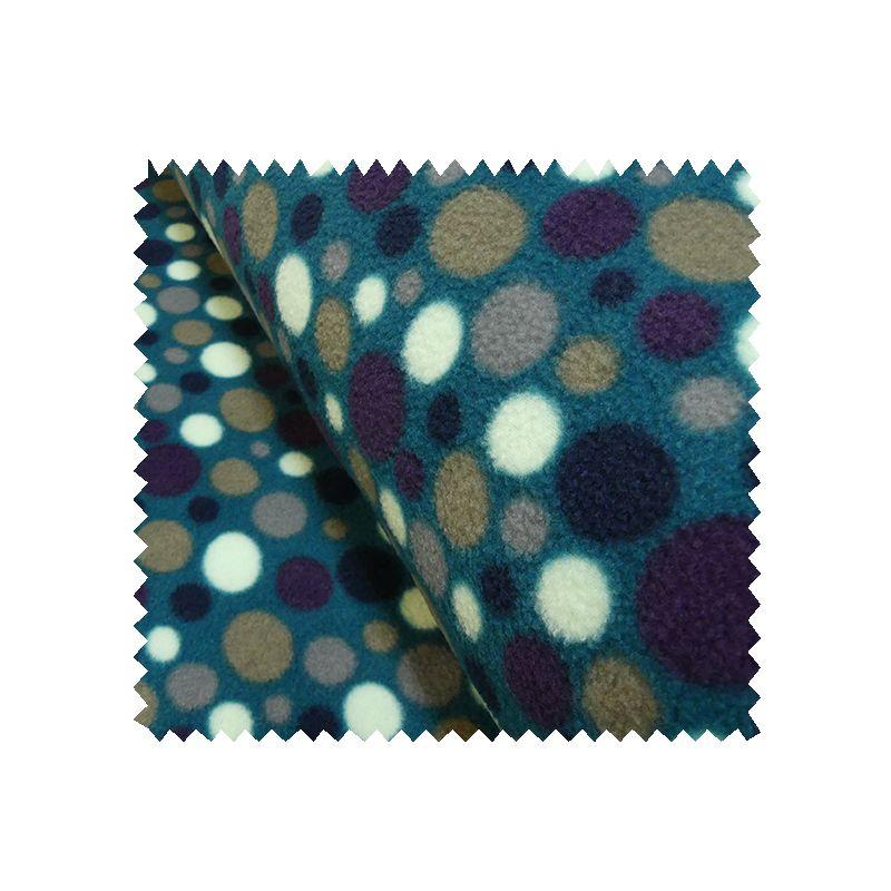 tissu polaire imprim ronds fond bleu tissus des ursules. Black Bedroom Furniture Sets. Home Design Ideas