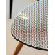 Tissu Imprimé Plume Azur